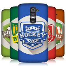 HEAD CASE SPORTS BADGE PROTECTIVE SNAP-ON HARD BACK CASE COVER FOR LG G2 D802