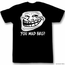 Troll Face meme You Mad Bro ? Licensed Adult Shirt S-2XL