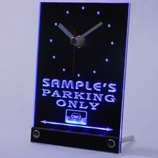 tncqo-tm Personalized Custom Car Parking Only Bar Beer Neon Led Table Clock