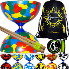 Jester Diabolo Set  with Wooden Diabolo Sticks + 10m Diabolo String + Bag