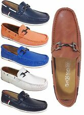Men Brixton New Leather Driving Casual Shoes Moccasins Slip On Loafers 26081