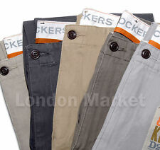 ORIGINAL DOCKERS MEN TROUSERS D2 LIVED&WORN KHAKI STRAIGHT FIT PANTS CHINOS