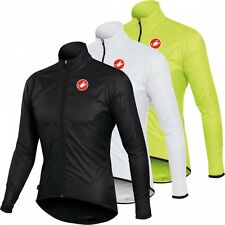 Castelli SQUADRA Long Lightweight Shower Resistant Packable Cycling Jacket