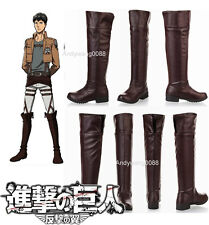 Attack on Titan Shingeki no Kyojin Eren Jaeger Cosplay Boots Shoes COS For Party