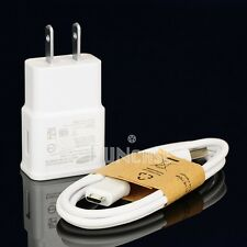 NEW 2.0Amp OEM Home/Wall Charger + Micro USB Cable For Samsung Galaxy Smartphone