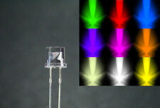 5mm Flat Top Wide Angle LED Bulbs In Various Colours Free UK Postage