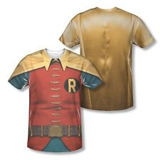 Batman Classic Robin Costume All Over Sublimation Adult Shirt S-2XL