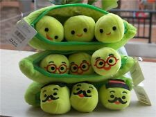 """Genuine Disney Store Toy Story Bean Bag 3 Peas-in-a-Pod  Plush Toy New 8"""""""