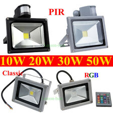 10W 20W 30W 50W RGB PIR LED Flood Light Security Outdoor Garden Landscape Lamp