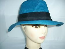 QUALITY LADIES FEDORA STRAW HAT (one size 57cm)