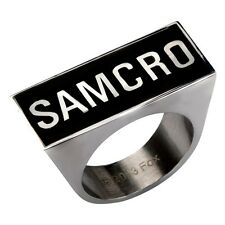 SOA SONS OF ANARCHY SAMCRO CHUNK RING LOGO REAPER STAINLESS STEEL RING 6 8 10 12