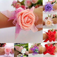 Wedding Party Bridal Costume Flower Wristband Corsage, 23 Styles u Pick