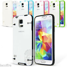 For Samsung Galaxy S5 SV Hybrid Color Clear Hard TPU Shockproof Case Cover
