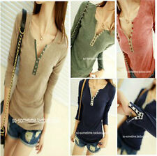 Womens Girl Long Sleeve Bottoming Shirt Crew Neck T-shirt Top Blouse 2014 Style
