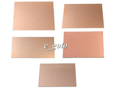 Double PCB Copper Clad Laminate Board Glass Fiber 100x200x1.5mm 70x100x1.5mm