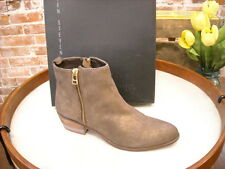 Steve Madden Roger Gold Bronze Leather Ankle Boot NEW