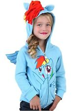 MY LITTLE PONY RAINBOW JOY YOUTH KIDS HOODIE GIRLS SWEAT SHIRT NEW COSTUME 4-12