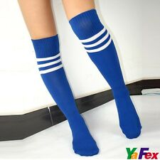 Knee High Stripe Tube Football Socks Sport Soccer Running Cheerleaders Sock