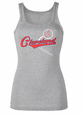 Cleveland Indians Women's Bedazzled Tank Top