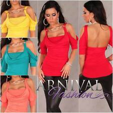 NEW SEXY WOMENS DESIGNER SHIRT 6 8 10 PARTY TOP CLUBWEAR sz XS S M clubbing wear