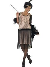 Ladies 20's Flapper Costume Gatsby Fancy Dress ALL SIZES