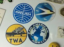 "AIRLINES & AIRCRAFT - AVIATION ""FRIDGE MAGNET"" Collection - Large 3.5"" Dia!"
