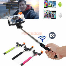 Bluetooth Shutter Extendable Handheld Selfie Stick Monopod for iPhone 6 Plus 5S