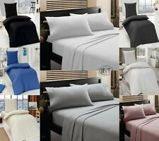 GRANDEUR 100% EGYPTIAN COTTON 200 THREAD COUNT DUVET COVERS, FITTED & VALANCE
