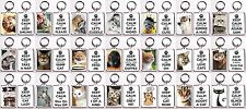 "Cat Themed ""Keep Calm"" Style Keychain - 20+ Designs To Choose From"