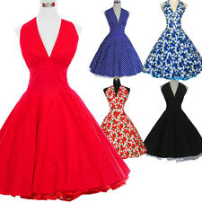 Vintage Dancing Party Ball Gown Prom Swing Jive Rockabilly Skirt 50s Dress White
