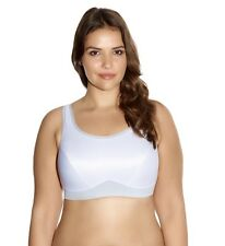 Goddess Sport Bra GD5056 White NWT Large band size  Support