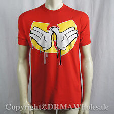 Authentic WU TANG CLAN Dripping Hands Logo T-Shirt S M L XL XXL NEW