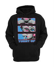 Turnt Up Dope Bad Girls  Hoodie Black  Small to XXL