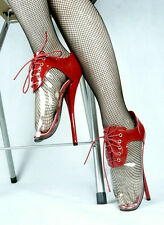 Ballet shoes red and clear laceup High Heel, Ballet SILICONE TOE GARD Every Size