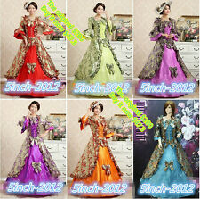 Lolita, Gothic Renaissance Medieval Costume Mythic long Dress,woman's dress #008