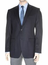 Donald Trump Modern Fit Solid Navy Two Button Cashmere Blazer Sportcoat