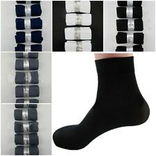 Hot Practical Casual 5 Pairs Man's Short Silk Socks Stockings Middle Socks