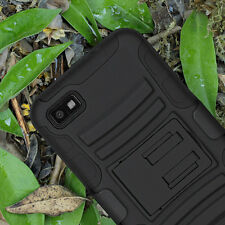 For BlackBerry Z10 AT&T Case Cover Advanced Armor Protector Holster+Screen