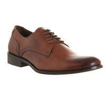 Mens Office Lee Lace BROWN LEATHER Casual Shoes