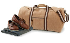 Quadra Vintage Canvas Holdall Duffle Bag Gym Sport Hand Luggage 45 Litres QD613
