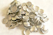 Self Cover Button Metal. Wire / Flat Back. All Sizes 12 15 19 23 28 38 45mm.Tool