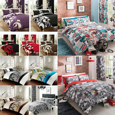 Luxury Duvet Cover Set With 2 Pillow Cases Quilt/Cover Bed Linen Sel All Sizes