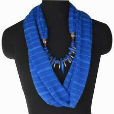 Neck Shawl Elastic Resin Stole Scarf  Wrap Solid Collar Pendant Necklace Z294