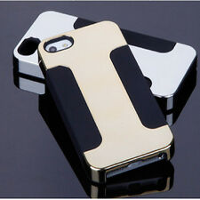 Soft Silicon Double layer Cases with Luxury Hybrid Plated PC for iPhone 5s 5 4s