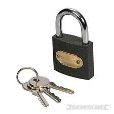 Iron Padlock 38mm to 62mm For Locking chains , Gates , garage garden sheds