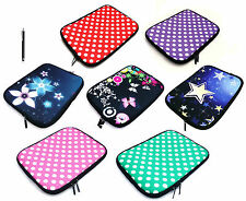 "Neoprene Soft Sleeve Zip Carry Case Cover Pouch for Tablets 8"" Inch with Stylus"