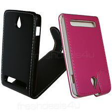 Leather Flip Case Cover Wallet for Sony experia E1 Phone