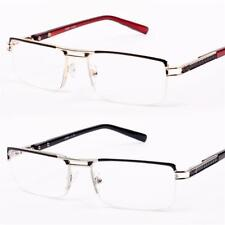 New Mens Womens Ladies Semi Rimless Design Metal Reading Glasses +1.257535 R43