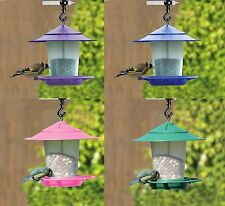 LABNTERN BIRD SEED AND NUT FEEDER BLUE PINK AND PURPLE COLORS