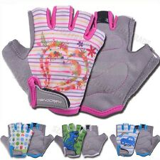Kids Children Boys Girls Sports Outdoor Bike Bicycle Cycling Half Finger Gloves